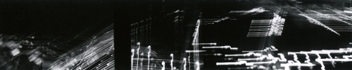 <strong>Barbara Blondeau</strong>[city lights],ca. 1970Gelatin silver print,5.5 x 79 cmVisual Studies Workshop Collection, Estateof Barbara Blondeau1977:0012:0029Orientation: 1