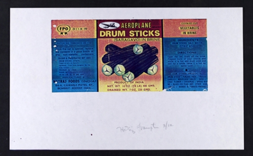 <strong>Hollis Frampton</strong>[Aeroplane drum sticks] From the series By Any Other NameSeries 3,1983Color Xerograph,21.5 x 35.5 cmVisual Studies Workshop Collection, Gift of the artist2000:0111:0005Aperture: 8Camera: NIKON D60Iso: 100Orientation: 1