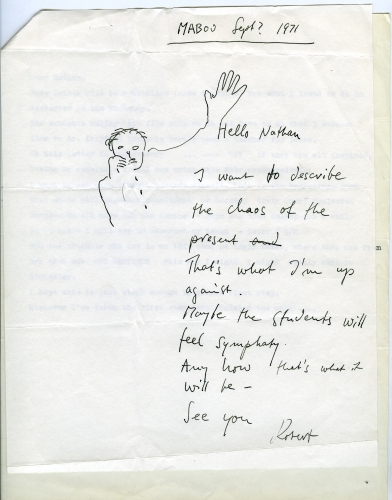 Letter to Nathan Lyons (1971)