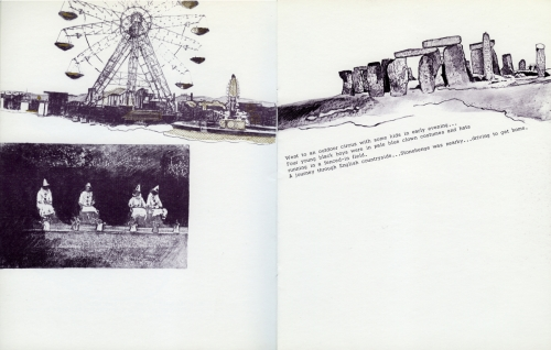 <strong>Bea Nettles</strong> Dream Pages[pages 9- 10] Printed at Visual Studies Workshop, Rochester, 1975 Offset lithograph and screen print, 23.5 x 18.5 x .25 cm Edition of 100 Visual Studies Workshop Collection, Independent Press Archive Z232.5 .N475 Ne-Dr