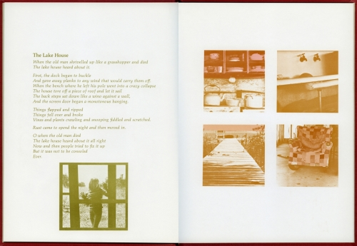 <strong>Bea Nettles</strong> Of Loss and Love[pages 15-16] Self published, Rochester, 1975 Offset lithograph, 25 x 18 x .75 cm Number 86 in an edition of 100 Visual Studies Workshop Collection, Independent Press Archive Z232.5 .N475 Ne-Of