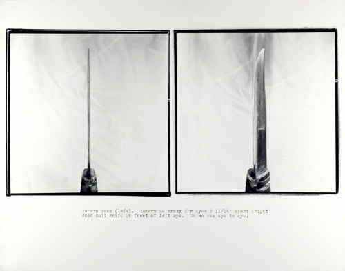 <strong>Bart Parker</strong>[Knife Diptych],1978Gelatin silver print,27.9 x 35.6 cmVisual Studies Workshop Collection,Gift of the artist1981:0093:0075