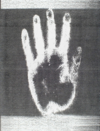 <strong>Sonia Landy Sheridan</strong>[hand], ca. 1975electrostatic thermal print, 21.5 x 28 cmVisual Studies Workshop Collection1981:0116:0036