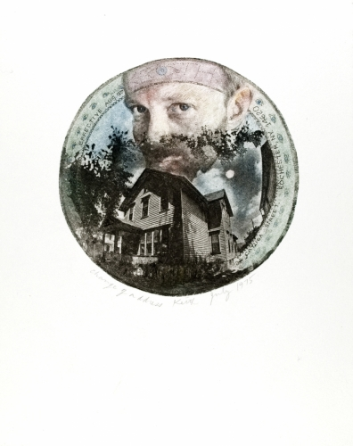 <strong>Keith Smith</strong>Change of Address,1975Photo etching,10.70 cm (image diameter)Visual Studies Workshop Collection, Gift ofthe artist1977:0070:0001