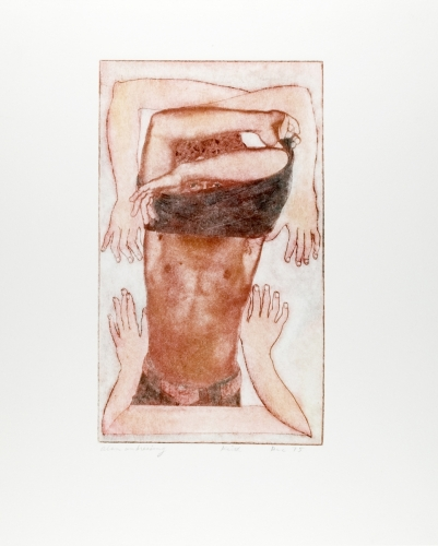 <strong>Keith Smith</strong>Alan Undressing,1975Photo etching, 21.50 x 12.50 cm (image)Visual Studies Workshop Collection, Gift ofthe artist1977:0070:0015