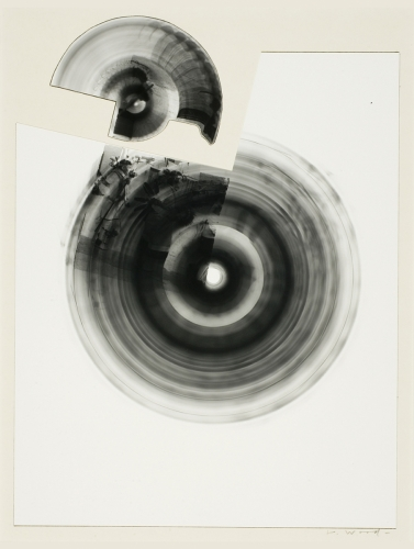 <strong>John Wood</strong>Untitled,1969collage with two gelatin silver prints,26.5 x 20 cm diameterVisual Studies Workshop Collection,Gift of the artist1975:0012:0009