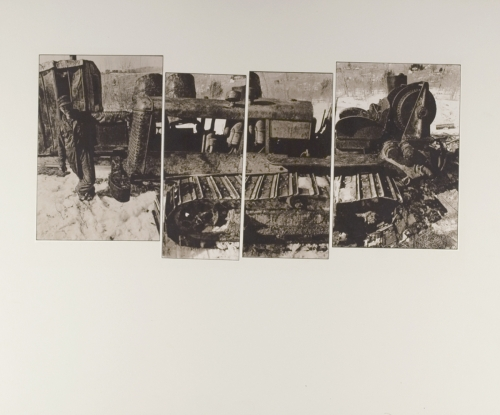 <strong>John Wood</strong>Untitled [Tractor] ca. 1965Kodalith print,36 x 43 cm diameterVisual Studies Workshop Collection,Gift of the artist1975:0012:0025